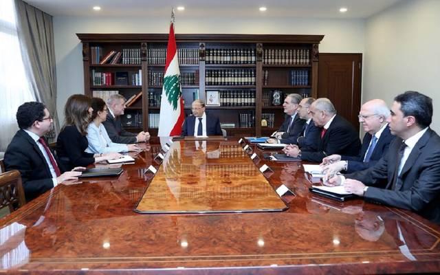 """رئيس لبنان لـ""""الأمم المتحدة"""": معالجة الأوضاع الاقتصادية من أولويات الحكومة"""