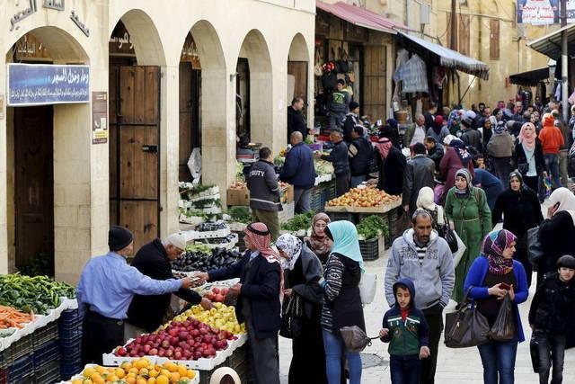 أحد الأسواق في الأردن