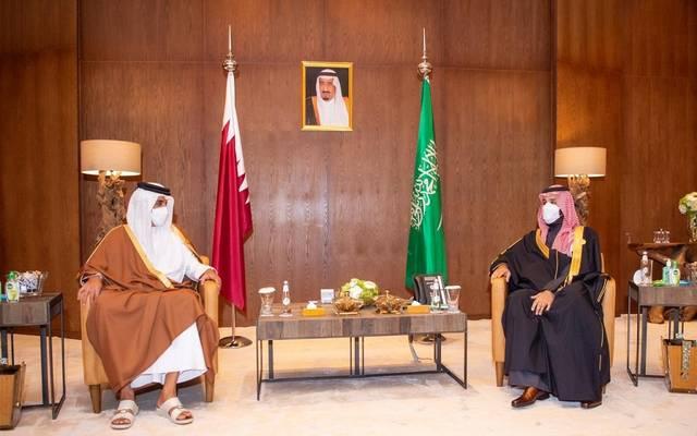 أمير قطر وولي عهد السعودية - أرشيفية