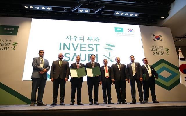 تسليم هيئة الاستثمار السعودية رخص الاستثمار لشركات كورية