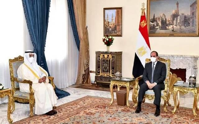 الرئيس عبدالفتاح السيسي خلال لقاء نايف الحجرف