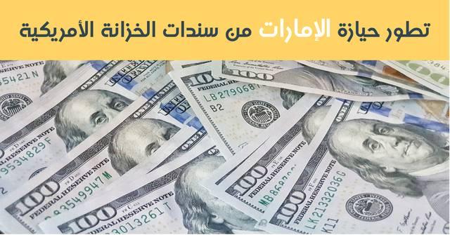 ارتفعت حيازة الإمارات من سندات الخزانة الأمريكية في مايو الماضي بنسبة 1.61% بمايعادل 300 مليون دولار