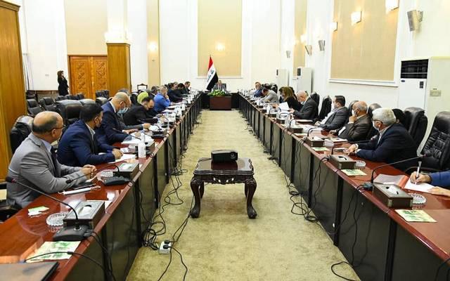 وزير التخطيط العراقي خلال ترؤسه اجتماعا مشتركا مع البنك الدولي