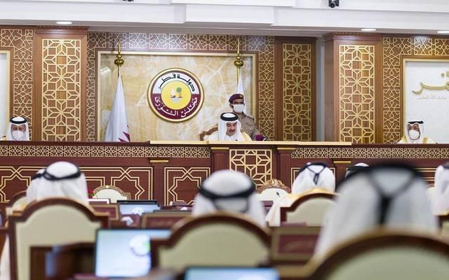 صورة للأمير داخل مجلس الشورى