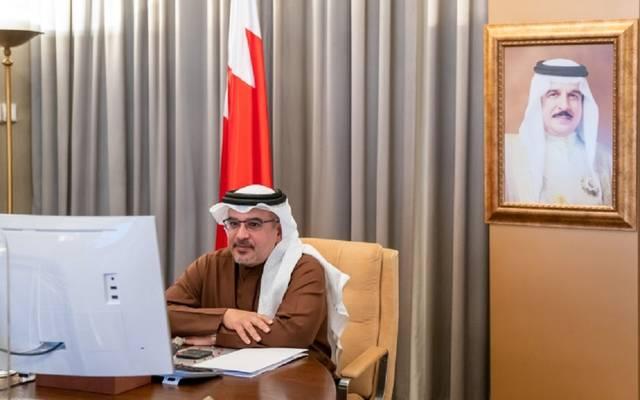 ولي العهد البحريني خلال الاجتماع