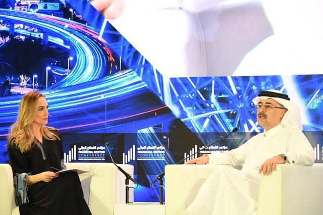 أمين الناصر، رئيس أرامكو السعودية خلال مؤتمر القطاع المالي