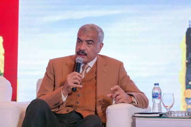هشام طلعت مصطفى خلال مؤتمر سابق- أرشيفية