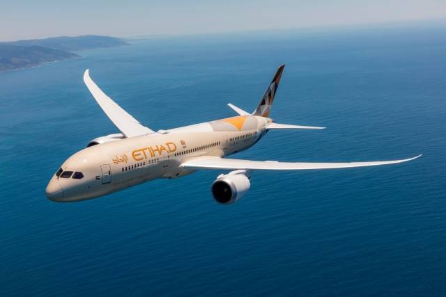 Etihad Airways receives new Boeing 787 Dreamliner