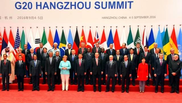 قمة العشرين في اجتماع سابق لها
