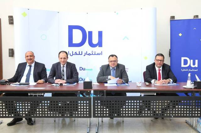 "The launch of ""Du"" brand for financial services"