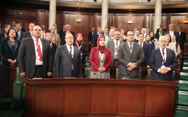 أعضاء مجلس الشعب التونس الجدد خلال الجلسة العامة الإفتتاحية