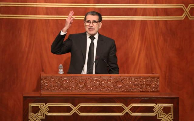 رئيس حكومة المغرب سعد الدين العثماني خلال الجلسة الشهرية المتعلقة بالسياسة العامة بمجلس المستشارين