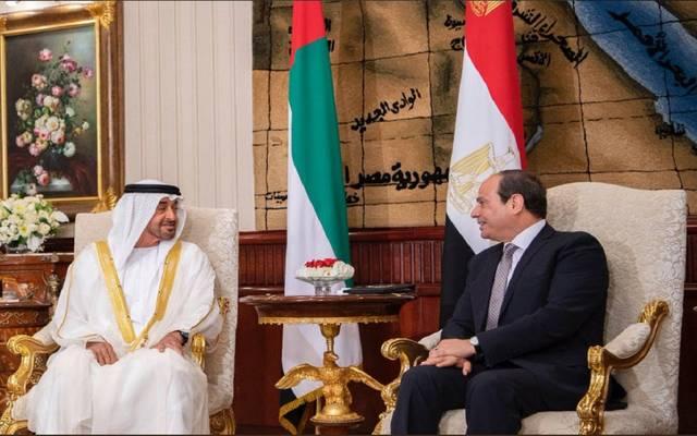 ولي عهد أبوظبي: بحثت مع السيسي التطورات الدقيقة بالمنطقة