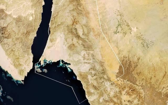 الموقع الجغرافي لمشروع مدينة نيوم السعودية