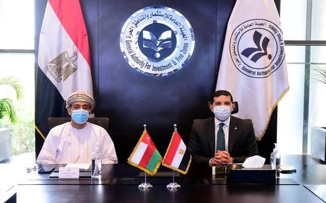 الرئيس التنفيذي للهيئة العامة للاستثمار والسفير العُماني بالقاهرة يبحثان فرص الاستثمار