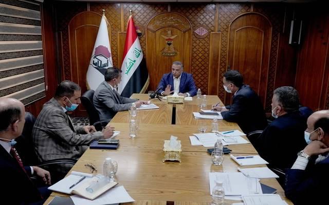رئيس الوزراء العراقي خلال زيارته لصندوق الإسكان