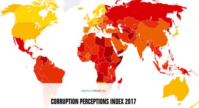 ترتيب الدول العربية على مؤشر مدركات الفساد 2017 - معلومات ...