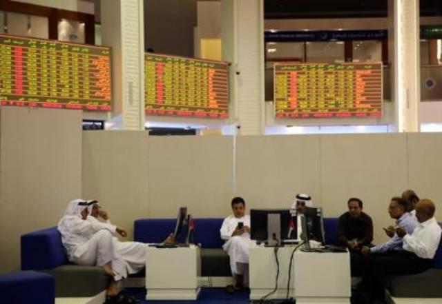 صورة أرشيفية من داخل مقر قاعة التداول ببورصة دبي