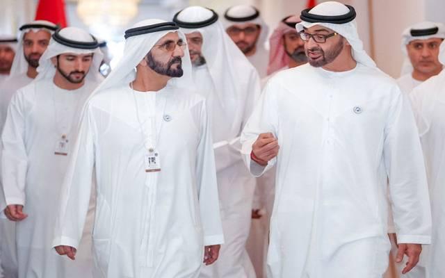 """محمد بن زايد وبن راشد يطلقان استراتيجية """"عام الاستعداد للخمسين"""""""