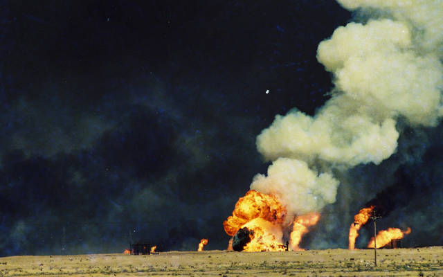 حرائق آبار النفط