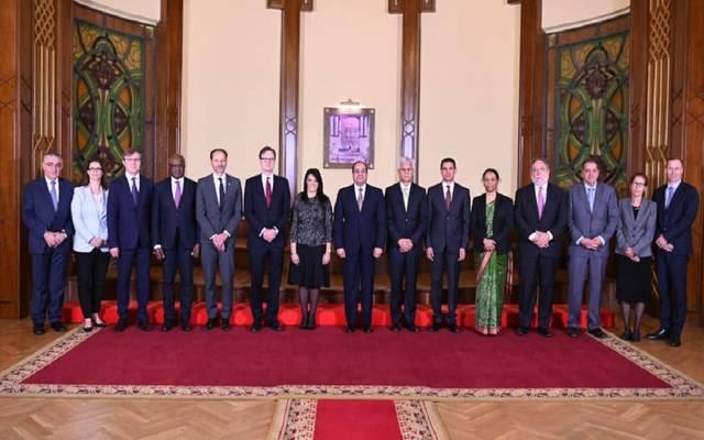 خلال لقاء الوفد مع الرئيس السيسي