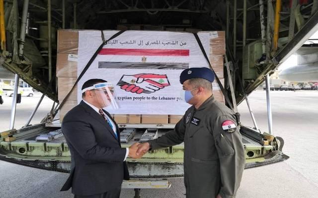 مساعدات مصرية إلى لبنان