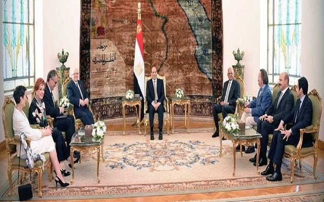 """السيسي يؤكد لرئيس """"الشيوخ الكندي"""" حرص مصر على توطيد العلاقات"""