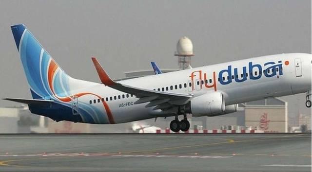 طائرة مملوكة لشركة فلاي دبي