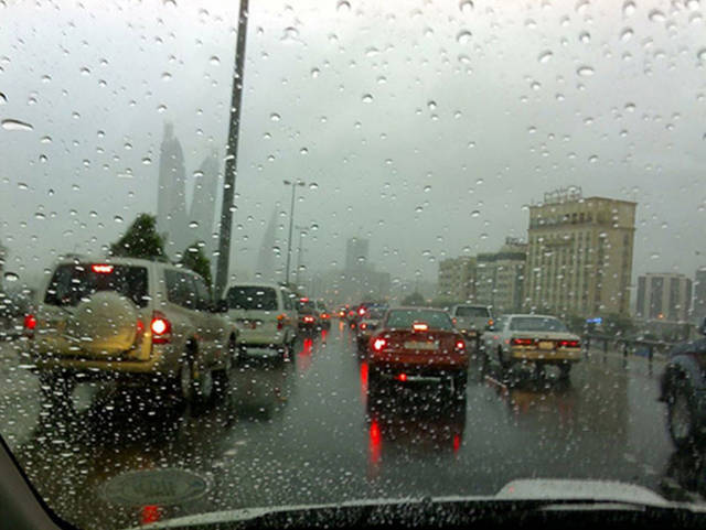 تساقط أمطار رعدية على البحرين