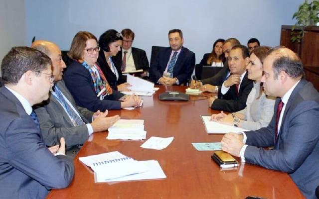 وزيرة الاستثمار خلال لقاء رئيس البنك الأوروبي للتنمية وإعادة الإعمار