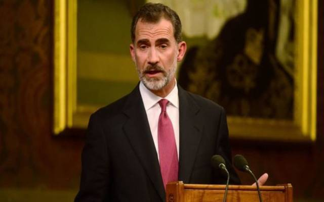 """ملك إسبانيا يتهم زعماء كاتالونيا بـ""""تحطيم مبادئ الديمقراطية"""""""