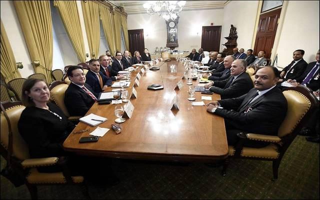 جانب من اجتماع واشنطن بشأن سد النهضة