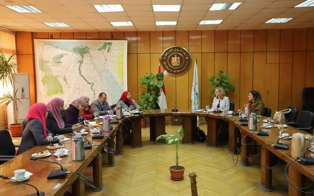 خلال اجتماع عقد بوزارة القوى العاملة، لبحث تعزيز التعاون مع منظمة العمل الدولية