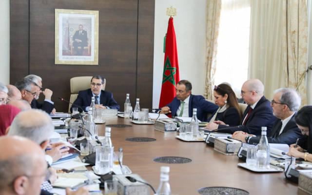 جانب من الاجتماع برئاسة سعد الدين العثماني رئيس الحكومة المغربية