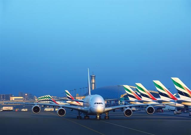 طائرات تابعة لمجموعة الإمارات