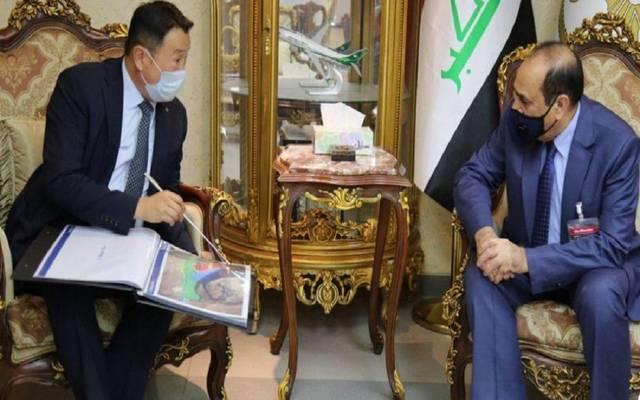 """النقل العراقية تبحث مع شركة """"دايو"""" الكورية إنجاز مشاريع بميناء الفاو"""