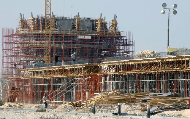 أحد مواقع أعمال البناء