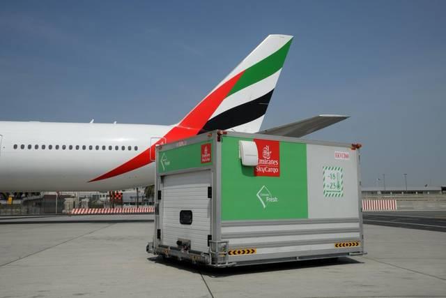 عمليات الشحن بمطار دبي