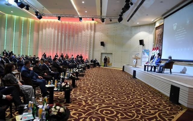 جانب من مشاركة الرئيس العراقي في ملتقى بحر العلوم للحوار