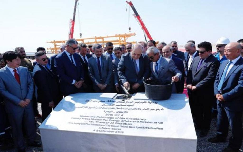 Iraqi Oil Minister lays foundation stone for Basra gas complex project 1024