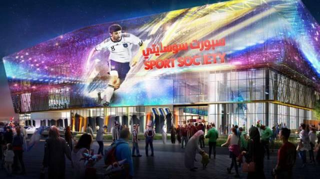 """مشروع """"سبورت سوسايتي"""" في دبي، أكبر مول تجاري رياضي في العالم"""