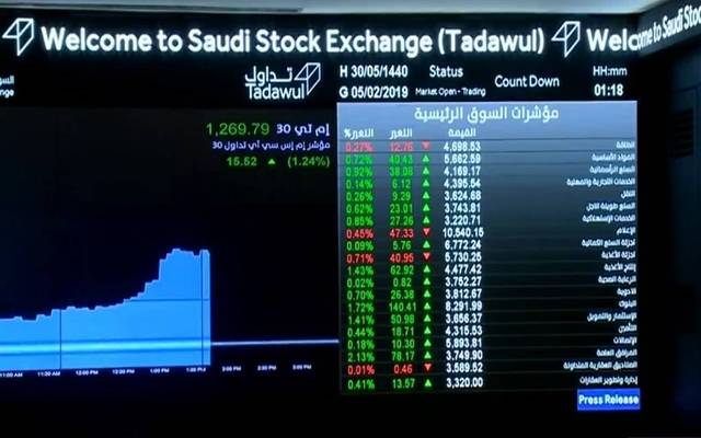 سوق الأسهم السعودية الرئيسية- أرشيفية