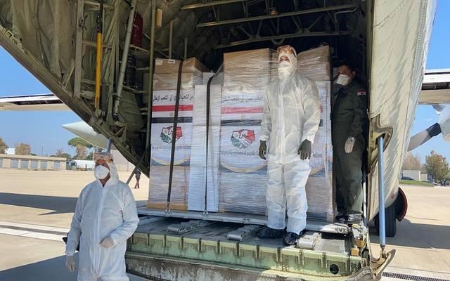 جانب من المساعدات المصرية