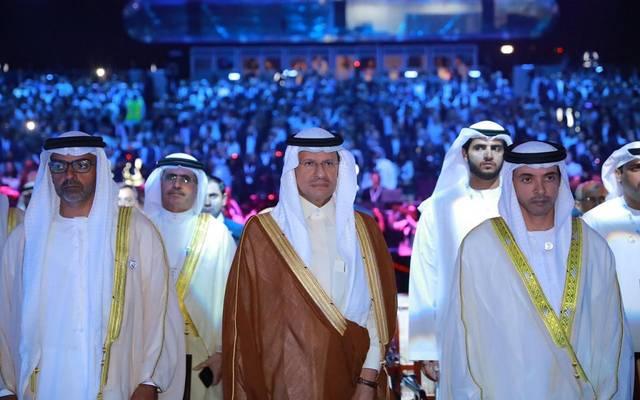 جانب من افتتاح مؤتمر الطاقة العالمي في أبوظبي 2019