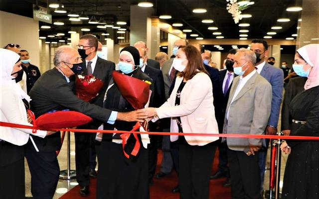 وزيرة التجارة والصناعة ونظيرتها الاردنية تفتتحان فعاليات الدورة الـ 14 لمعرض المنتجات المصرية