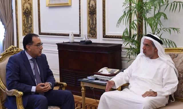 رئيس مجلس الوزراء المصري مصطفى مدبولي ورئيس مجموعة الغرير الاستثمارية للمواد الغذائية جمال الغرير