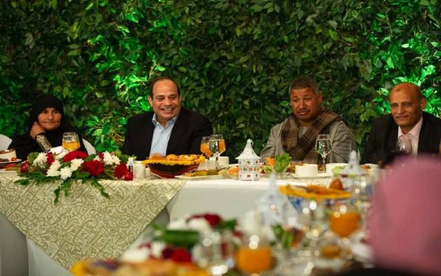 الرئيس السيسي خلال إفطار الأسرة المصرية اليوم