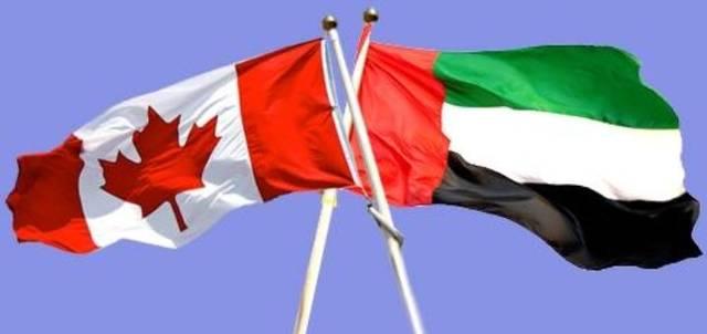علما دولتي الإمارات وكندا
