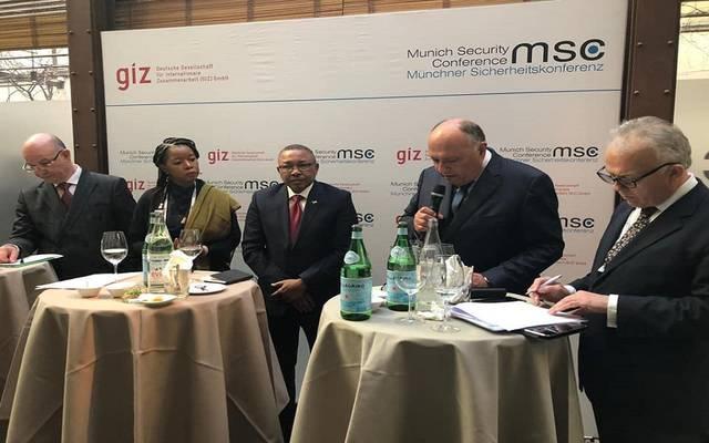 وزير الخارجية المصري خلال مشاركته بمؤتمر ميونخ للأمن