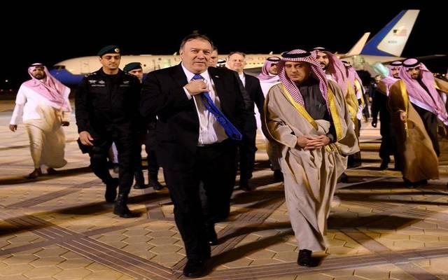 وزير الخارجية الأمريكي لدى وصوله إلى الرياض